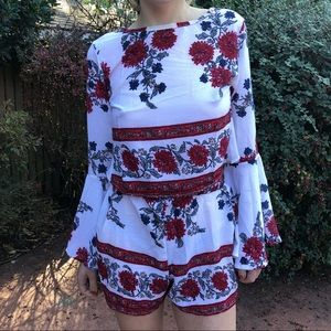 Dresses & Skirts - Floral playsuit set